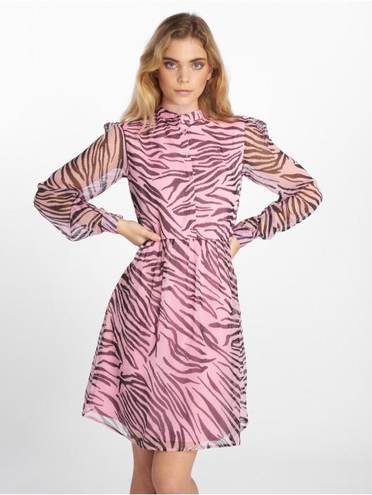 NA-KD Kleid High Neck pink