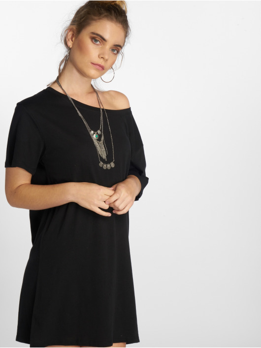 NA-KD Kleid One Shoulder schwarz