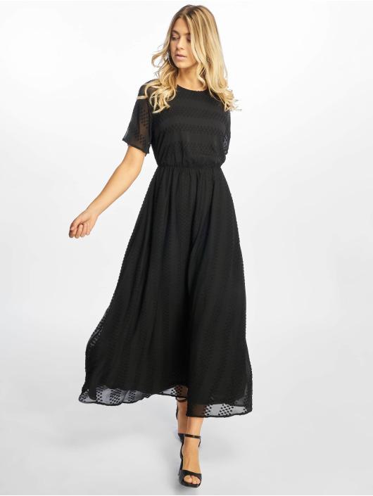 NA-KD Kleid Dot Long schwarz
