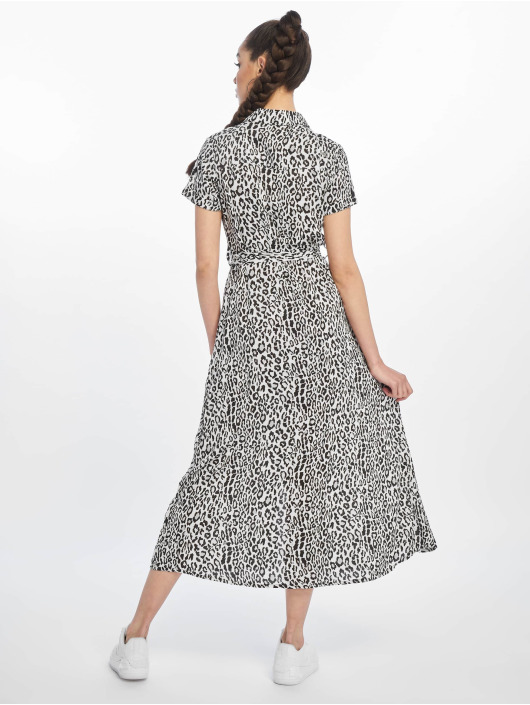 NA-KD Kleid Short Sleeve Maxi weiß