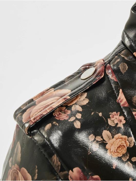 NA-KD Kožené bundy Rose Printed růžový