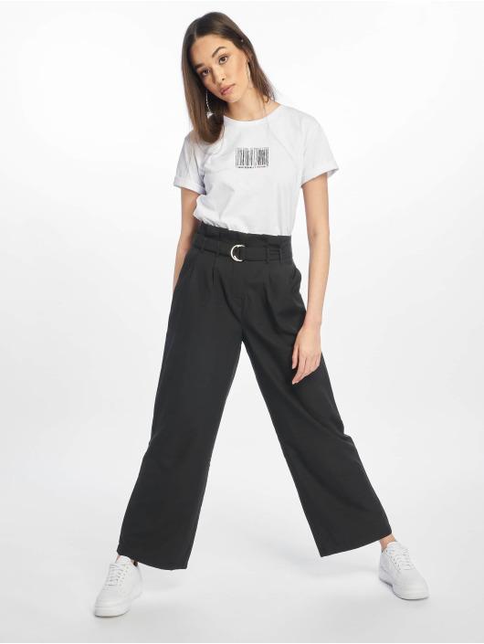 NA-KD Látkové kalhoty Paper čern