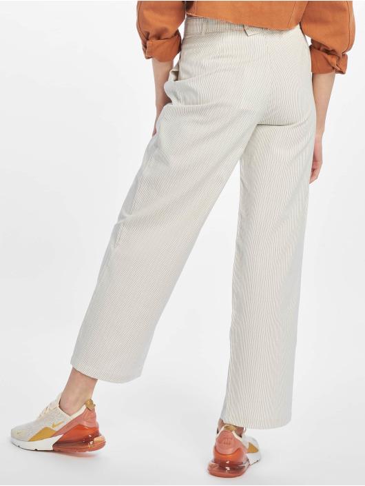 NA-KD Látkové kalhoty Paperwaist bílý