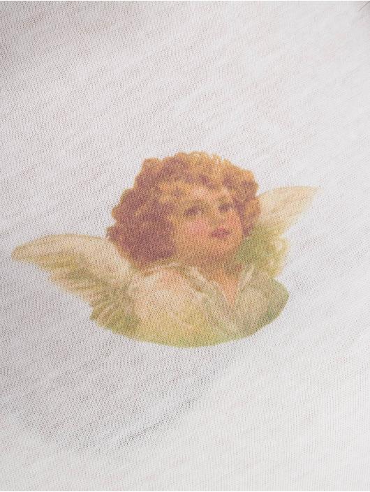 NA-KD Langermet Angel Tee hvit