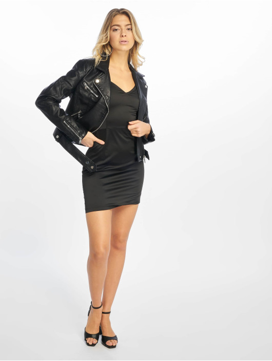 NA-KD Leather Jacket Leather black