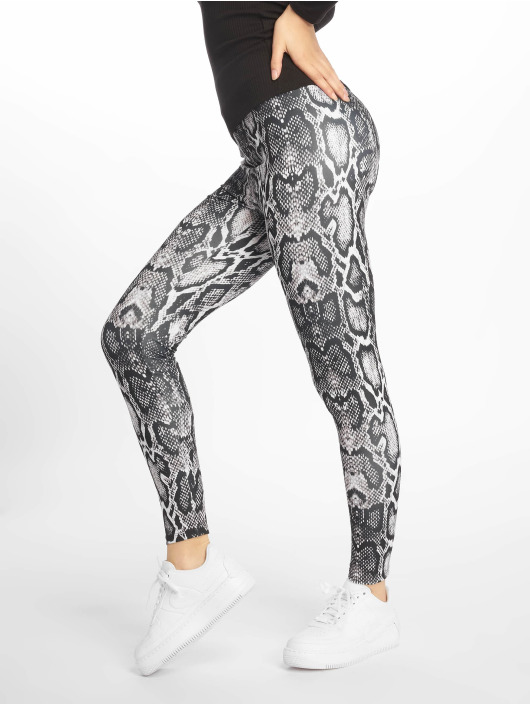 NA-KD Legging Snake Print blanc