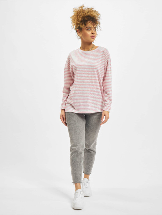 NA-KD Longsleeves Long Stripe pink