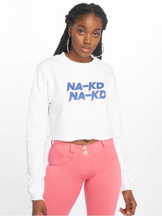 NA-KD Maglia Short bianco
