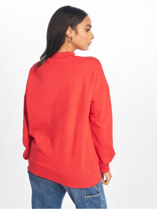 NA-KD Maglia High Collar rosso
