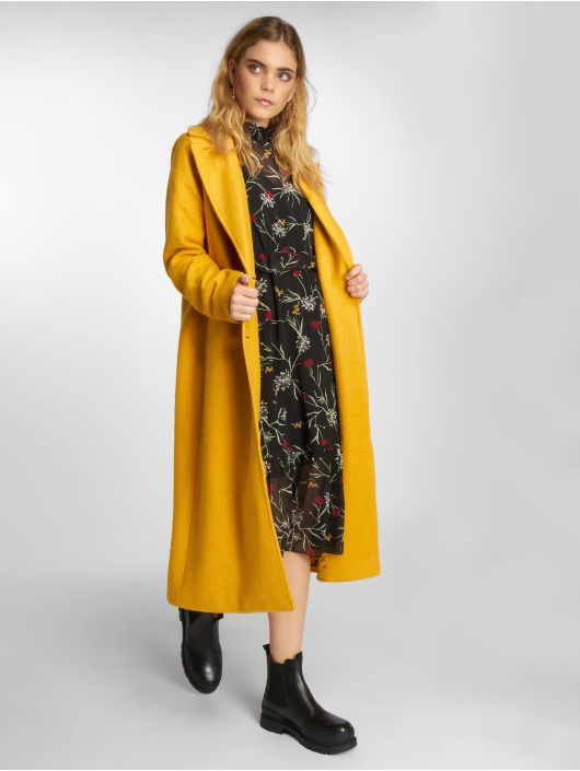 NA-KD Manteau Double Breasted jaune