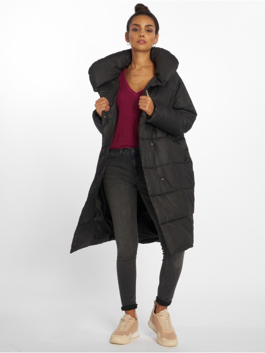 NA-KD Manteau Padded Shawl Collar noir