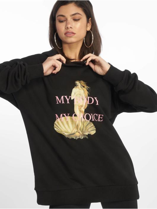 NA-KD Mikiny My Choice Oversized èierna