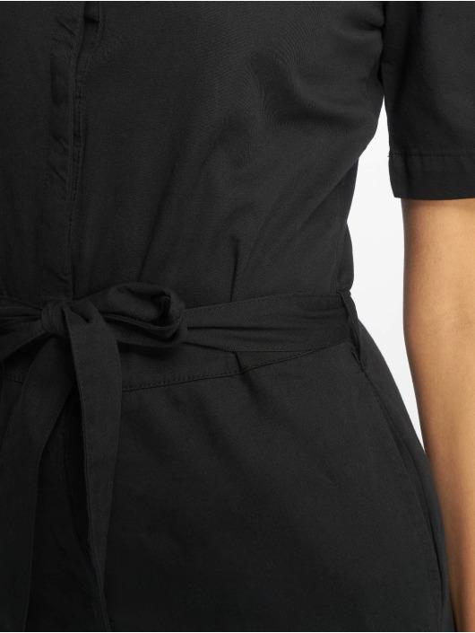 NA-KD Overály Short Sleeve Button Up èierna