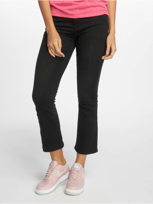 NA-KD Pantalon chino Cropped Flare noir