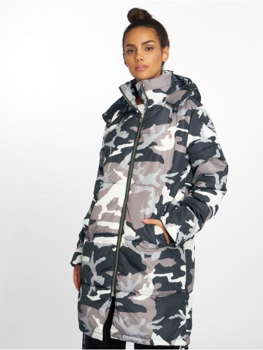 NA-KD Parka Long Camo Padded camouflage