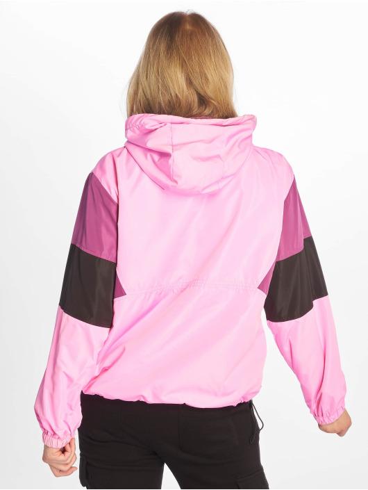 NA-KD Prechodné vetrovky Hood Anorak pink