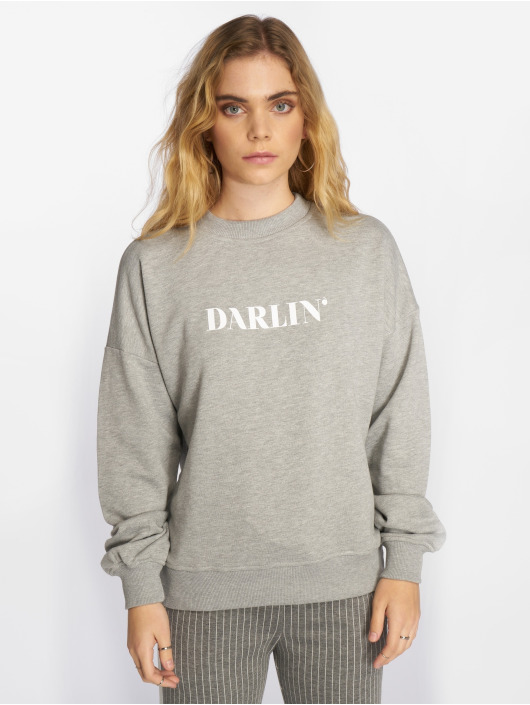 NA-KD Pullover Darlin' grau
