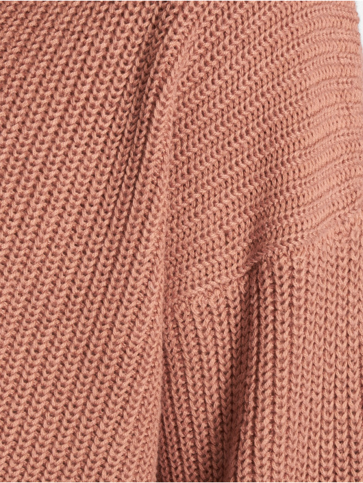 NA-KD Pullover Cropped Long Sleeve Knitted pink