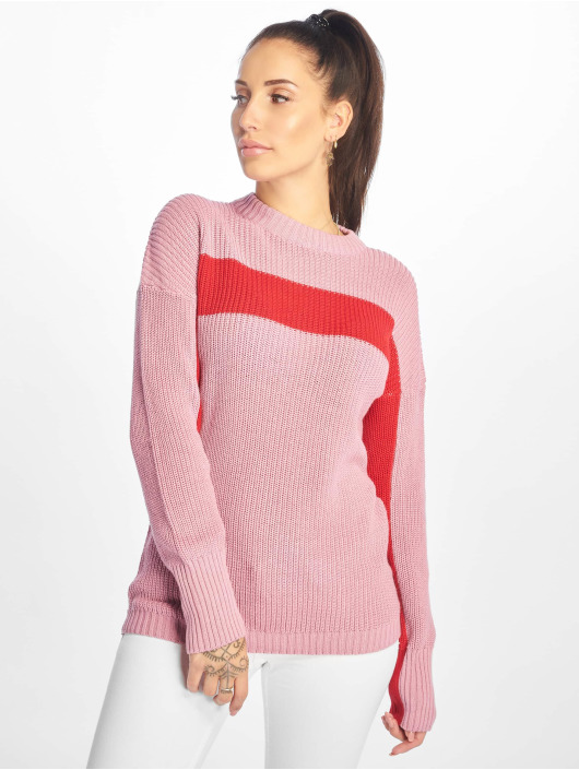 NA-KD Pullover Happy Stripe pink