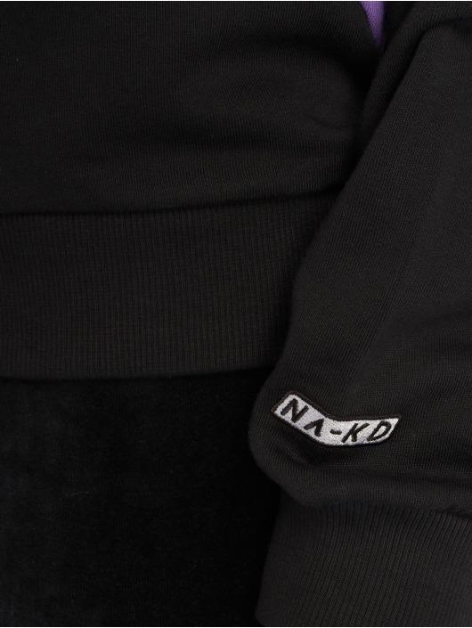 NA-KD Pullover Blocked Side schwarz
