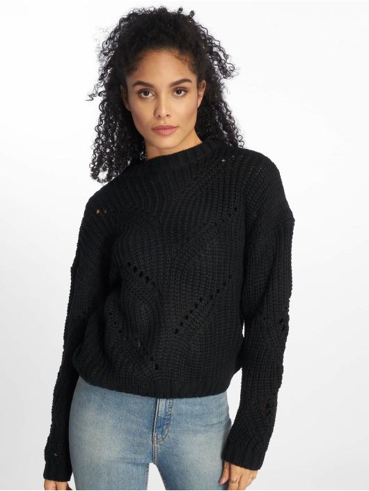 NA-KD Pullover Hole Knit schwarz