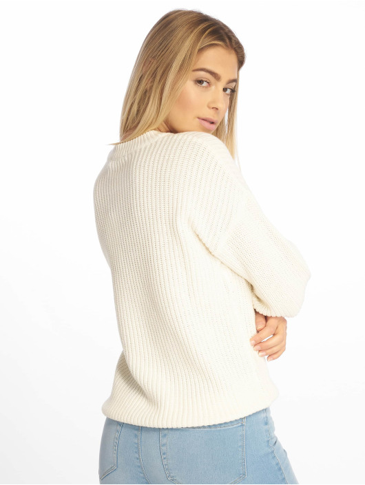 NA-KD Pullover Balloon Knit weiß
