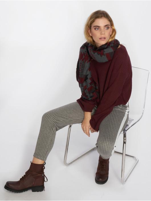 NA-KD Pulóvre Cropped Long Sleeve Knitted èervená
