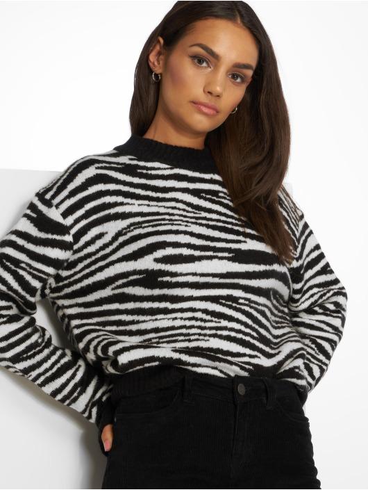 NA-KD Puserot Zebra Knitted musta