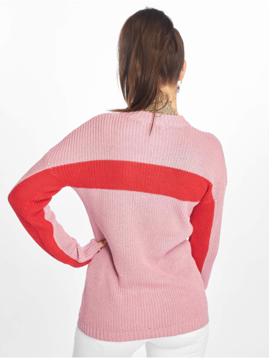 NA-KD Puserot Happy Stripe vaaleanpunainen