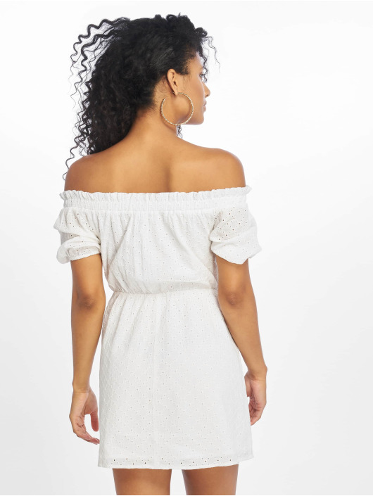 NA-KD Robe Off Shoulder Puffy Sleeve blanc