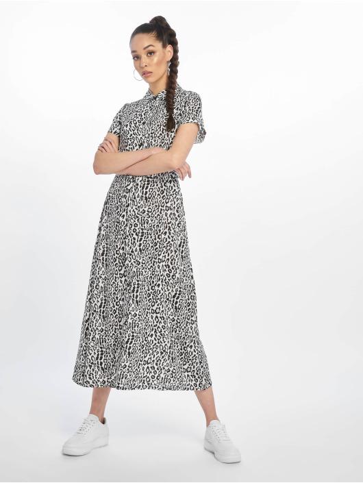 NA-KD Robe Short Sleeve Maxi blanc
