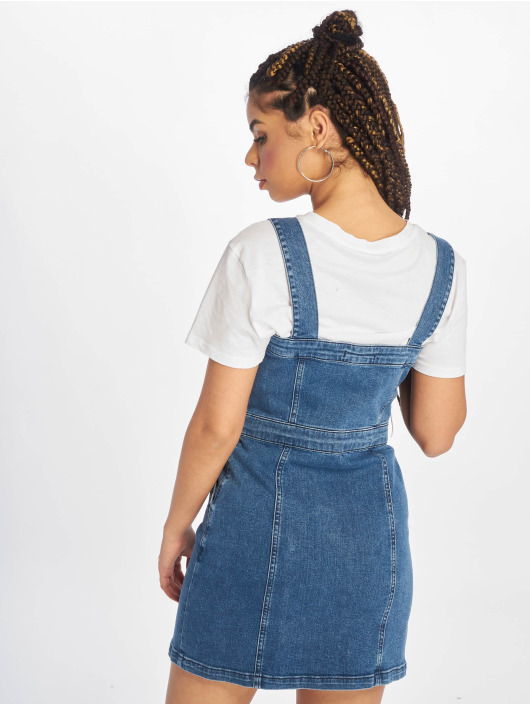 NA-KD Robe Pinafore Mini bleu