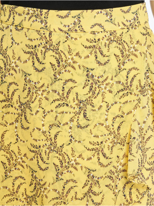 NA-KD Robe Floral Printed jaune