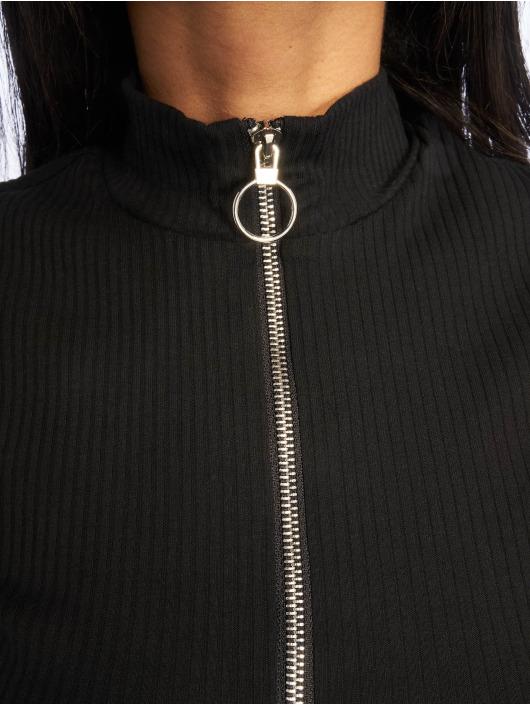 NA-KD Robe Rib Frill noir
