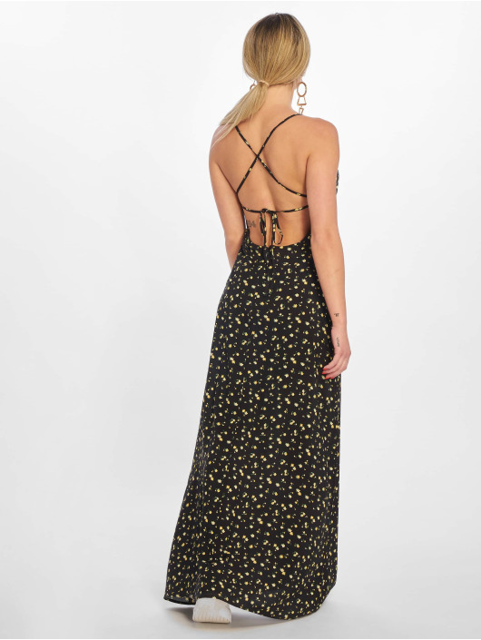 NA-KD Robe Open Back Floral noir