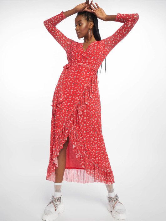 NA-KD Robe Mesh Wrap rouge