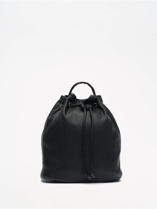 NA-KD Rucksack Faux Leather Drawstring noir
