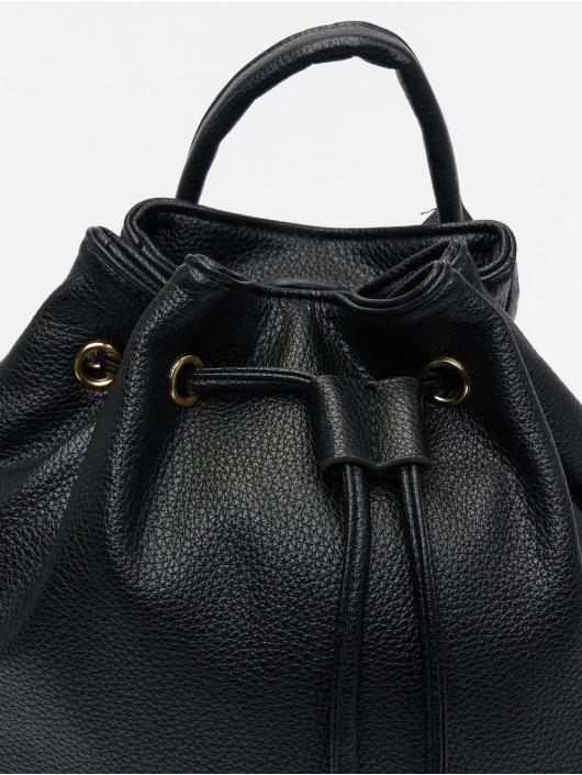NA-KD Sac à Dos Faux Leather Drawstring noir