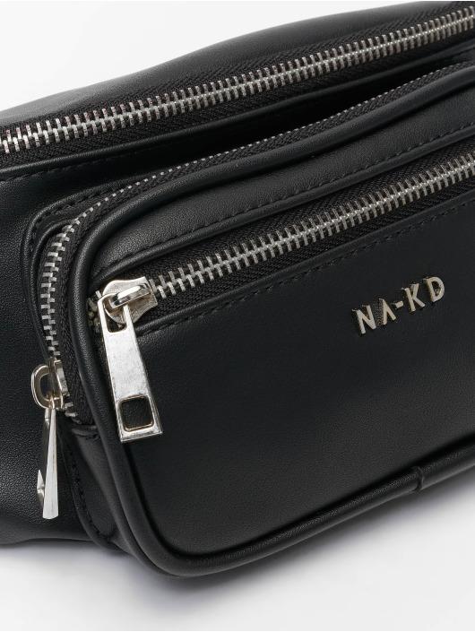 NA-KD Sac Zipper Detail Fanny noir