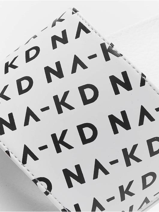 NA-KD Sandály Logo Pool bílý