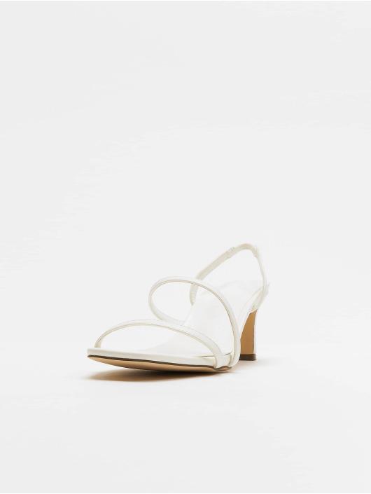 NA-KD Sandály Asymmetric Straps bílý