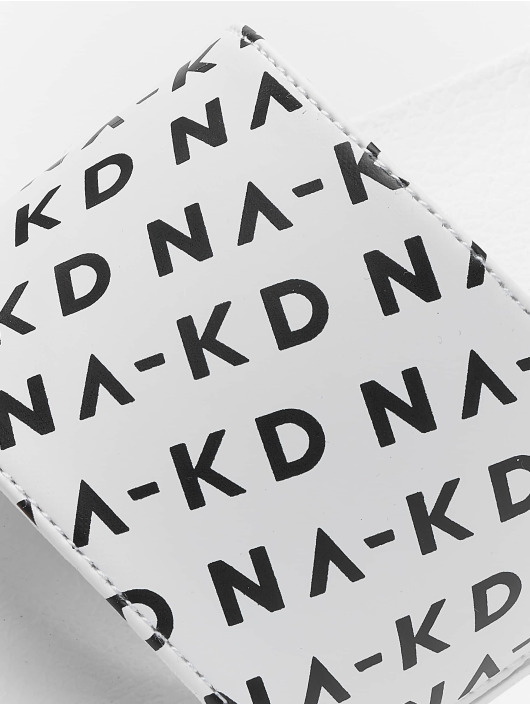 NA-KD Sandals Logo Pool white