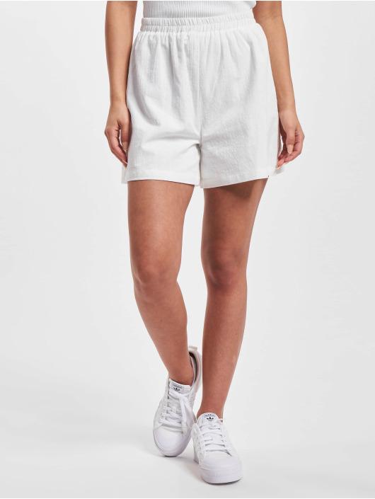 NA-KD Short Elastic Waist Linen Look blanc