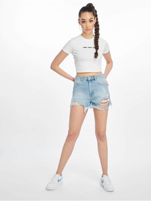 NA-KD Shorts Ripped Denim blau