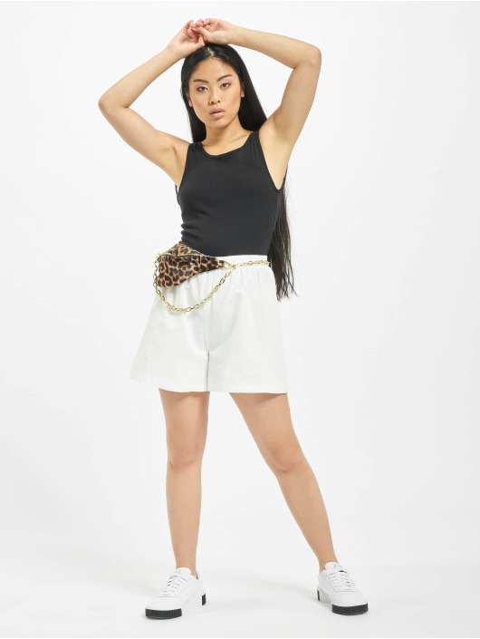 NA-KD Shorts Elastic Waist Linen Look hvit