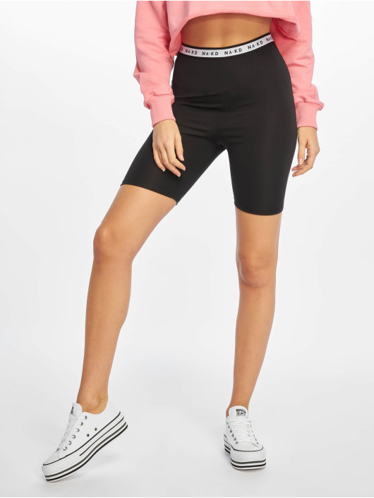 NA-KD Shorts Logo Cycling schwarz
