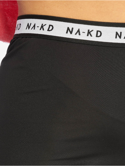 NA-KD Shorts Logo Cycling schwarz