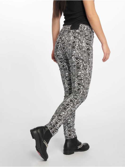 NA-KD Skinny Jeans Snake Printed bialy