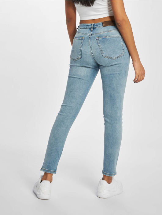 NA-KD Skinny Jeans Low Rise Distressed blue