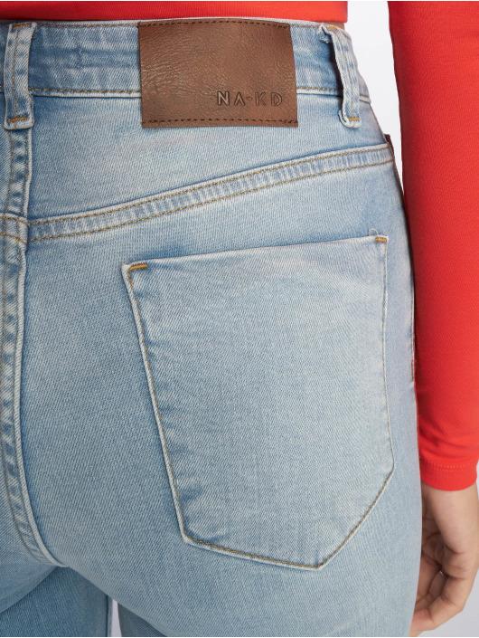NA-KD Skinny Jeans Side Striped niebieski